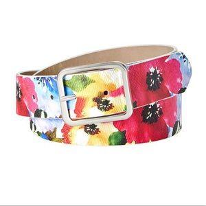 Inc printed floral jeans belt XL